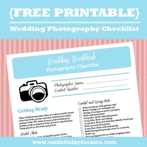 graphic relating to Wedding Photography Checklist Printable named Marriage Pictures List Absolutely free Printable