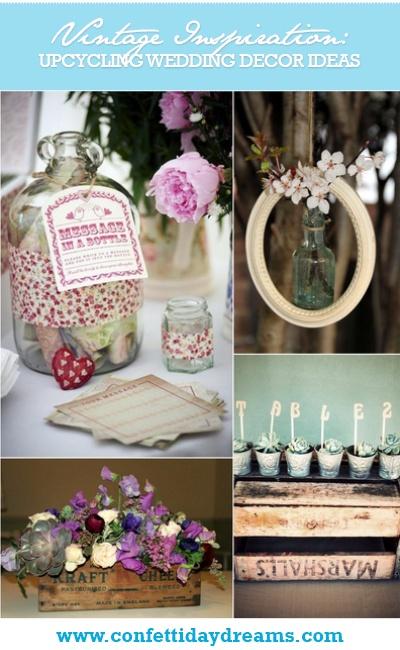 12 Upcycling Vintage Wedding Décor Ideas