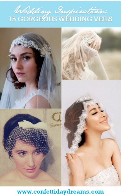 15 Wedding and Bridal Veils {Trendy Tuesday}