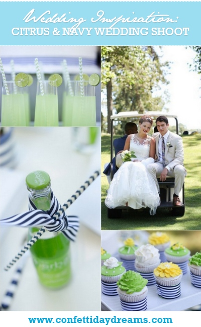 Citrus & Navy Country Club Wedding Shoot