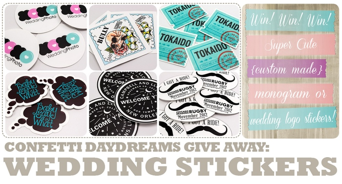 Win Custom Monogram or Wedding Logo Stickers