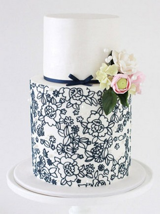 DIY Vintage Cake Tips - Wedding Cake with Lace Design (Sharon Wee Cakes)