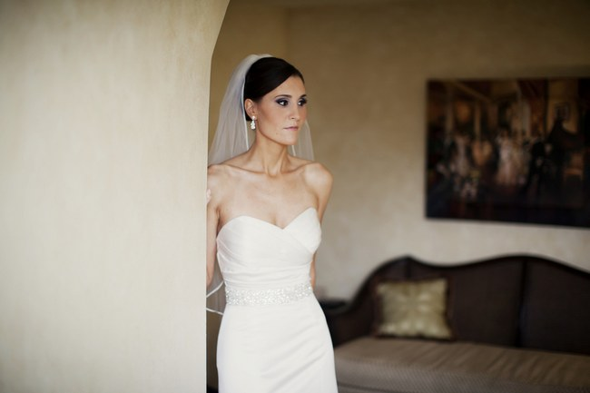 Elegant White Wedding Look