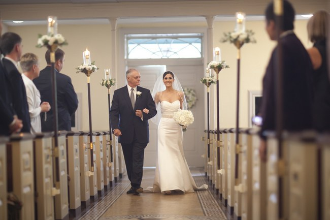 Elegant White Wedding Ceremony