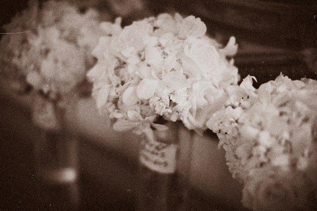 Elegant White Wedding Look