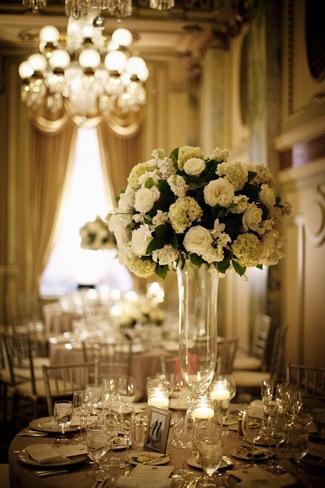 Elegant White Wedding Reception at The Willard InterContinental Hotel