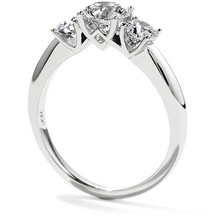 Three Stone Cathedral Setting Engagement Ring | Hearts on Fire