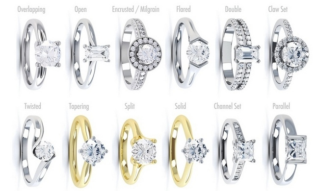 Engagement Ring Shoulder Styles