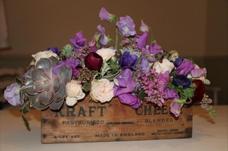 Floral Crate Centrepiece