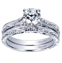 Solitaire Wedding Band Set | Gabriel & Co NY