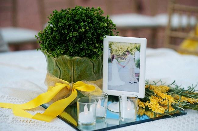 Green and Yellow Rustic Garden Wedding
