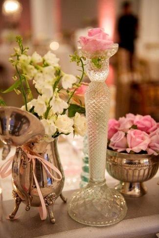 Rose in Vintage Glass Vase
