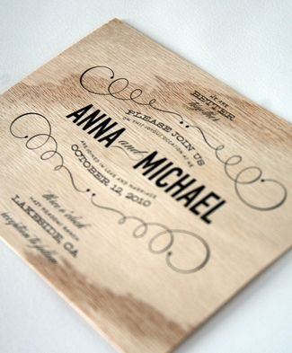 Rustic Wedding Invitation 06
