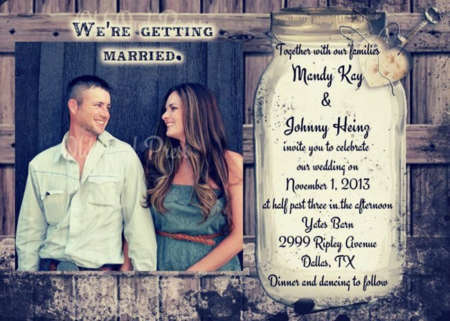 Rustic Wedding Invitation Printable