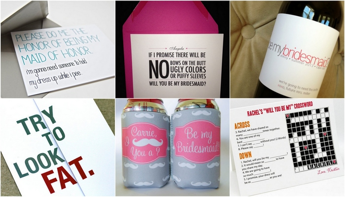 Will you be my bridesmaid ideas Blog |