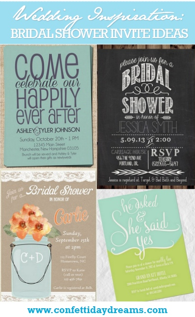 13 Bridal Shower Invite Ideas