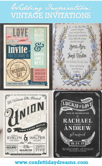 21 Fabulous Vintage Wedding Invitations