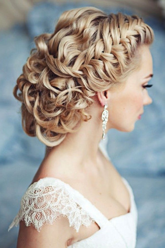 Wedding hairstyles updo with braid