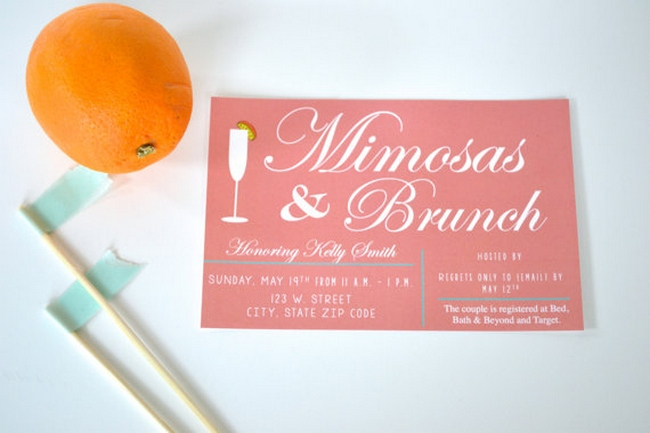 Bridal Brunch Invitation Ideas