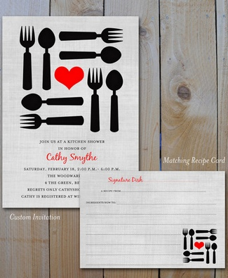 Kitchen Shower Invitation Ideas