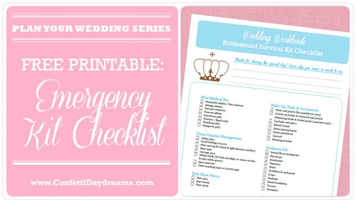 Wedding Emergency Kit & Checklist {Wedding Planning Series}