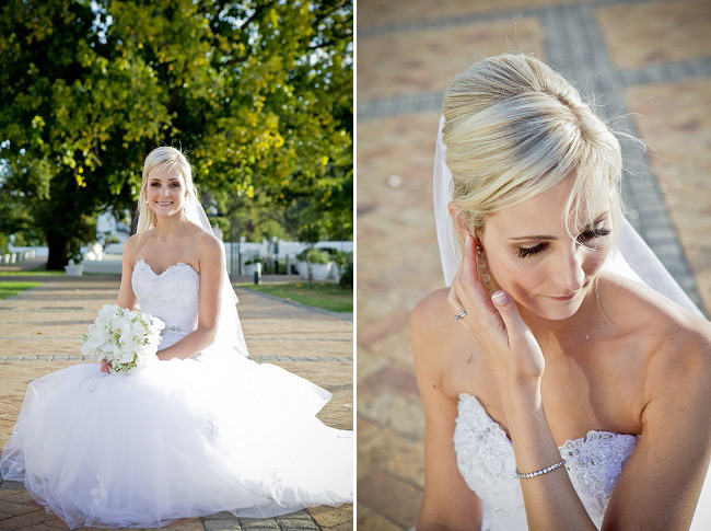 Elegant Black & White Allée Bleue Wedding, South Africa