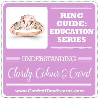 Engagement Ring Guide - Clarity Color Cut Diamond Stone