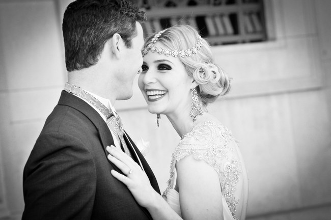 Great Gatsby Art Deco Flapper Wedding Shoot