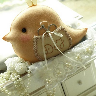 Love Bird Wedding Ring Bearer Pillow