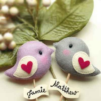 Love Bird Wedding Decor & Cake Toppers | Gifts Define