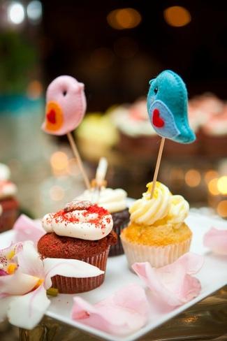 Love Bird Wedding Cupcake Toppers   Gifts Define