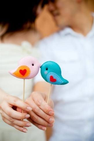 Love Bird Wedding Photo Props | Gifts Define