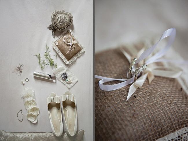 Pink and Ivory Vintage Wedding Look