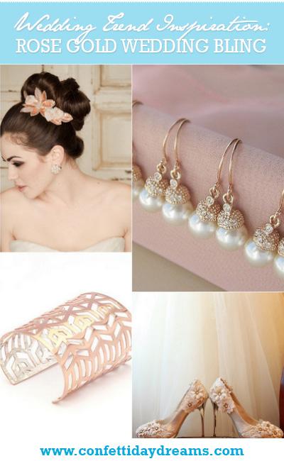Rose Gold Wedding Bling Ideas