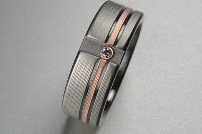 mens rose gold wedding rings - Mens Rose Gold Wedding Rings