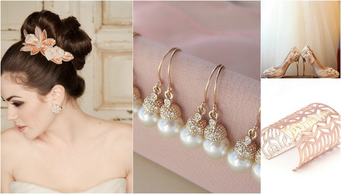 Rose Gold Wedding Bling