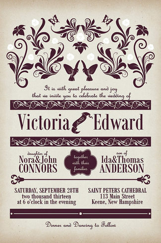 best vintage wedding invitations