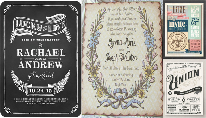 21 Fabulous Vintage Wedding Invitations