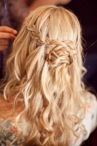 Waterfall Braided Wedding Hairstyles