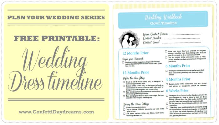 Wedding Dress Timeline FREEBIE {Wedding Planning Series}