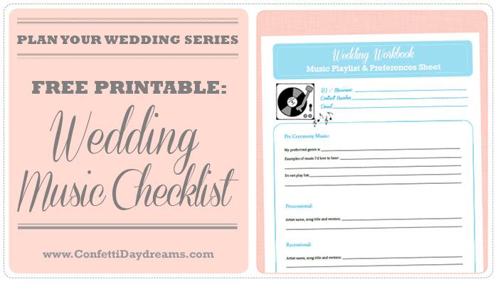 Wedding Music Checklist Wedding Planning Series