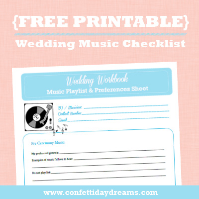 Wedding Music Checklist {Wedding Planning Series}