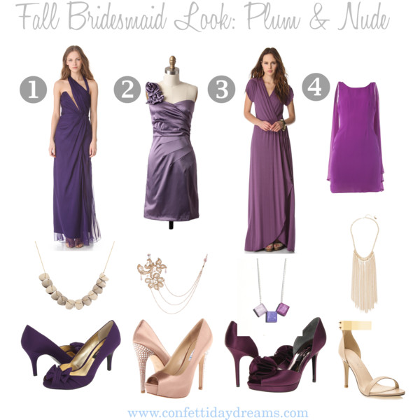 Fall Bridesmaid Look | Plum and Nude