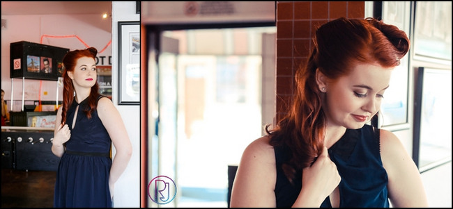 Fifties Style Diner Engagement Shoot