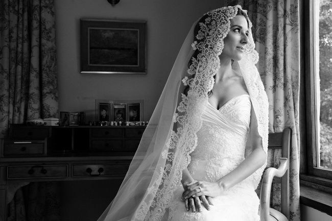 French Vintage Inspired Lace Veil See More Here Bridal Styling Tips
