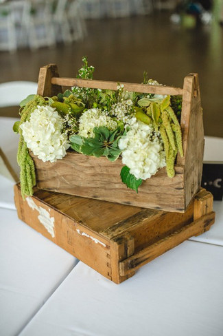 Green White Rustic Knoxville Outdoor Wedding