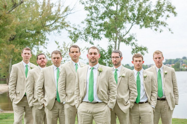 Green & White Rustic Knoxville Outdoor Wedding