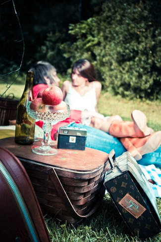 Indie Summer Picnic Engagement Shoot Session