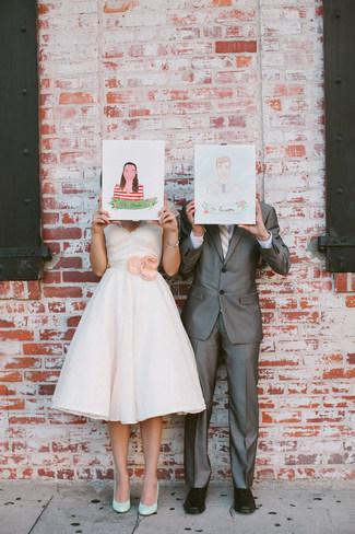 Mint & Coral Vintage Summer Wedding, Los Angeles