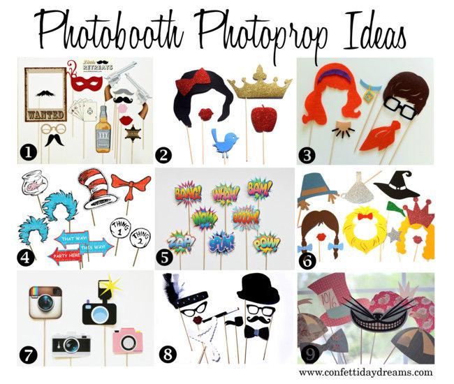 Wedding Photo Props Ideas: Unique Photobooth Photoprop Ideas